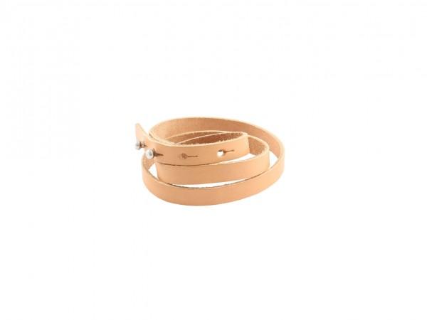 Nr. 044-N Leder Armband, Natur