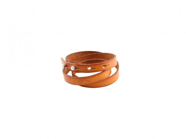 Nr. 044-C Leder Armband, Cognac